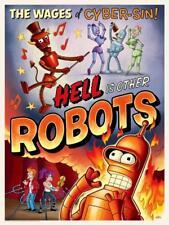 Futurama Devil Bender Fry Leela Hellfire Satre Hell is Other People Robots Art