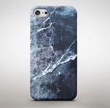 Lapiz Azul Agrietado Mármol Stone Granite Efecto Suave Cubierta Estuche Teléfono