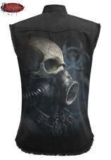 Spiral Direct bio-skull sin mangas lavado a la piedra Trabajador/Camisa/