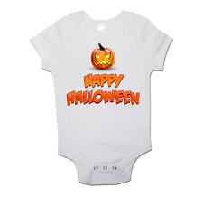 Halloween Bambino Gilet Happy Halloween BOY GIRL A Maniche Corte Body Regalo