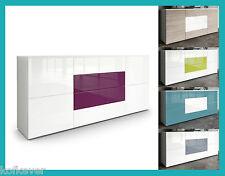 Mobile laccato lucido / legno soggiorno design credenza cassettone salotto nero