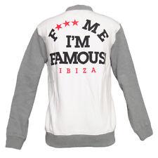 Guetta F*** Me I'm Famous Ibiza Teddy Jacket Retro Athletics Logo WHITE RRP £120