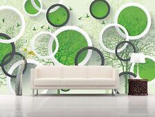 3D Arbre Vert 442 Photo Papier Peint en Autocollant Murale Plafond Chambre Art