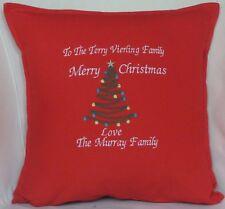 Personalised Merry Christmas wish Tree Xmas gift Sofa Bed Car Home Decor cushion