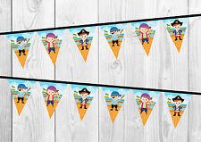 Striscione di compleanno pirata, Bandierine, Vivaio Decorazione, Festa.