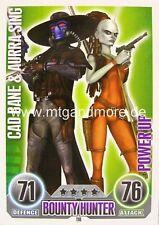 Star Wars Force Attax  Cad Bane & Aurra Sing #118