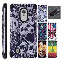 For LG Aristo/Fortune/Phoenix 3/Risio 2 Phone Case Cover+TEMPERED GLASS/Kombat#8