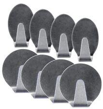4 Stück Edelstahlhaken Haken Klebehaken selbstklebend Edelstahl oval rund Halter