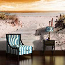 VLIES Fototapete Fototapeten Tapeten Strand Steg Sand Wasser Meer 14N2020VEXXXL
