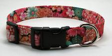 Oriental Floral Dog Collar Adjustable Handmade Custom Designer
