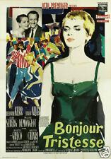 Bonjour tristesse Otto Preminger cult movie poster print