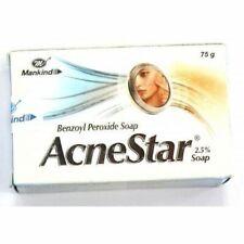 3 Pack Of Acnestar 2.5 % Benozyl Peroxide Soap For Acne Clear Skin (75 gm each)