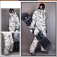 Neu Southplay Winter-Ski-Snowboard Wasserdicht weiß Camo -MilitärJacke oder Hose