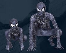 Spiderman Negro Disfraz De Carnaval Como Simbionte Niño Hombre Cosplay SPM011