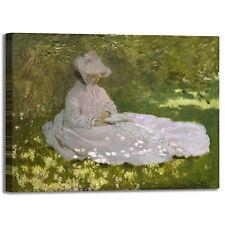 Monet primavera design quadro stampa tela dipinto telaio arredo casa