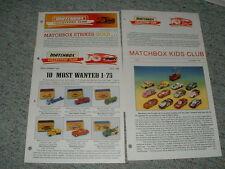 Matchbox Collectors Club Newsletter Magazine Issues 10, 11 Kids club mis 1995-96