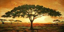 Madou: Memories of Masai Mara Keilrahmen-Bild Leinwand Afrika Baum Steppe