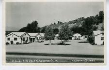 1930s RPPC Postcard Hidalgo Auto Court Redding CA