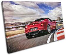 Alfa Romeo 4C Spyder Exotic Italian Cars SINGLE LONA pared arte Foto impresion