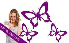 Wandtattoo Schmetterlinge 3 Stück Butterfly Wandsticker Aufkleber auch für Auto