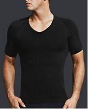 male men's posture correction v neck slimming shirt SCULPTING SHAPER T-SHIRT