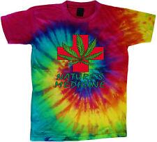 tie dye t-shirt medical marijuana weed pot cannabis shirt tie dyed tee shirt