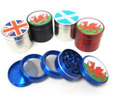 50mm 5part Metal Herb Grinder Scotland Welsh Union Jack Flag
