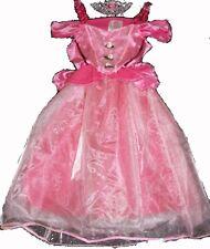 Costume princesse rose fée Belle au bois dormant robe ange couronne carnaval