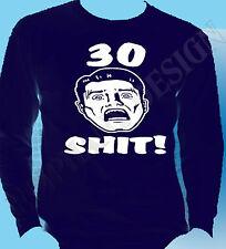 30th Birthday T-Shirt Long Sleeve Any Year Thirty Years Old 35th 36th 37th 38th