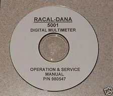 Racal-Dana 5001 Dmm Instruction Manual (Ops & Service)