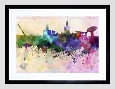 Pintura Paisaje Urbano Pintura Splash horizonte Sevilla Impresión Arte Enmarcado Montaje B12X13552