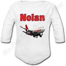 Body Bébé Avion avec prénom ou texte personnalisé