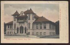 Postcard SANTA ANA California/CA  Public Library view 1906