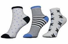 Ysabel Mora 3er Pack Jungen Sneaker Strümpfe Socken weiß blau schwarz