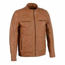 Men's Sheepskin Leather Jacket With Zipper Front - SFM1860