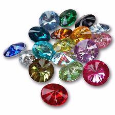 Forma rotonda Sfaccettato Acrilico Cristallo Strass Decorazioni Gemme Decorative Craft