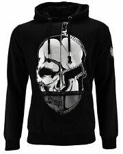 DIS IRATIS NATUS (D.I.N.) Herren Sweatshirt Pullover Hoodie Skull Kapuze schwarz