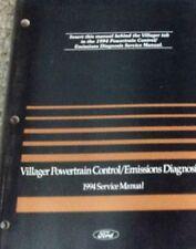 1994 FORD MERCURY VILLAGER VAN Powertrain Control Emission Diagnosis Manual OEM