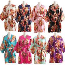 Satin/Silk Floral bridesmaid robes gowns bride bath robe wedding kimono robe hot