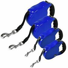 Max Care Blue Retractable Dog Leash Extendable Locking Pet Walking Lead Soft