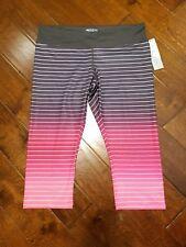 New IDEOLOGY Striped Cropped Leggings Capri Yoga Pants Sizes XS S M XL XXL