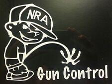 NRA PISS ON GUN CONTROL Vinyl Decal CHOOSE SIZE boy peeing anti window sticker