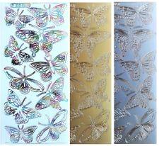 GARDEN BUTTERFLIES Peel Off Stickers Beautiful Spring Butterfly Card Making
