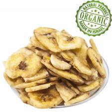 Organic Premium Dried Bananas Slices Pure Kosher Natural Israeli Dry Fruit