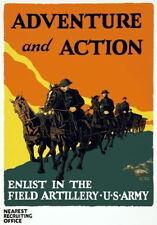83985 Vintage US Army Enlist Field Artillery Decor WALL PRINT POSTER CA