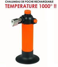 CHALUMEAU DE POCHE RECHARGEABLE!  1000° PENDANT 35MN! OBLIGATOIRE RAID 4X4!