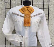 b6d25fb825 Mexicano Cosido Charro Western Shirt. Camisa Charra gala bordada Espuela De  Oro