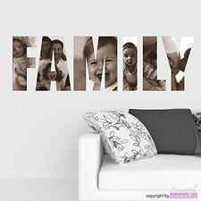 WANDTATTOO Family | Bilder mal anders | mit eigenen Fotos | Wandaufkleber