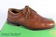 Seibel hommes Chaussures à lacets, basket chaussures plates marron,