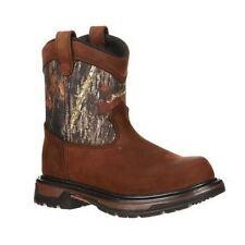Kids Rocky Camo Western Work Boot 3633